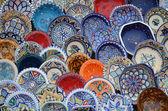 Multicolor souvenirs in market — Stock Photo