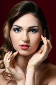 创意化妆的女人 — 图库照片