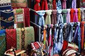Rug fabric at market — Stockfoto