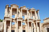 Celsus bibliotek i efesos — Stockfoto