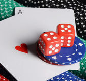 Double aces with   dice — Stock Photo