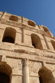 Amphitheater in El Jem — 图库照片