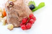 Ice-cream with chocolate — Stock Photo