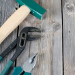 Set building tools on old boards — Stock Photo #6205009