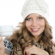Beautiful girl with a coffee cup — Stock Photo #8163640