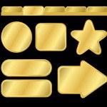 Golden texturiert, Tasten und Menü — Stockvektor  #3657382