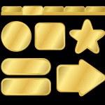 Golden textured buttons and menu — Stock Vector #3657382