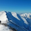 Winter trekking in the mountains — Stock Photo #22280001
