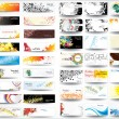 Vector de stock : Mix collection banners and business cards