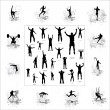 Icons for sports championships . - Image vectorielle