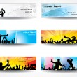 Advertising banners for sports championships and concerts — Stock Vector
