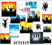 Set of posters for sports championships and concerts — Stock Vector