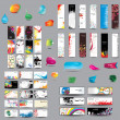 Mix Collection vertical and horizontal cards, headers ,bubbles for speech and elements for web design — Stock vektor