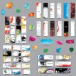 Mix Collection vertical and horizontal cards, headers ,bubbles for speech and elements for web design — Imagen vectorial