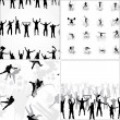 Set seamless background from sport silhouettes — Stock Vector #15447247