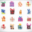 Royalty-Free Stock Vektorfiler: Set new year gifts