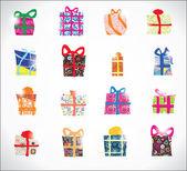 Set regalos de año nuevo — Vector de stock