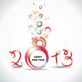 Nieuw jaar 2013. abstracte poster — Stockvector
