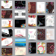 Mix Collection vertical and horizontal posters - Stok Vektr
