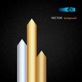Arrows of precious metals — Stock Vector