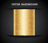Arrière-plan de couleur or métal — Vecteur