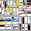 Mix Collection vertical and horizontal headers — Vetorial Stock #32122299