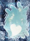 Heart backgroun with tesxtures — Stock Photo