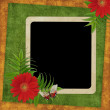 Vintage card for the holiday — Stock Photo #1610214