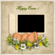 Easter card for the holiday  with egg on the abstract background — Stok fotoğraf
