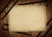 グランジ フィルムとグラフィック抽象的な背景 — ストック写真