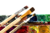 Ink and brush on a white background — Stockfoto