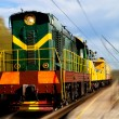 Moving train — Stock Photo
