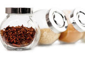 Jars with spices — Stock Photo
