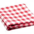 Red and white tablecloth — Foto de Stock