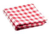 Toalha de mesa vermelha e branca — Foto Stock