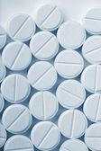 белые таблетки — Стоковое фото