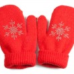 Baby mittens — Stock Photo #14337761