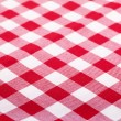 Red and white tablecloth — Stok fotoğraf #14683921