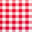 Red and white tablecloth — Foto de stock #15232979