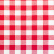 Foto Stock: Red and white tablecloth