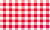 Red and white tablecloth — Stock fotografie