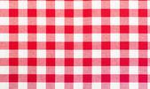 Rote und weiße tischtuch — Stockfoto