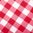 Red and white tablecloth — 图库照片