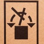 Cardboard sign — Stock Photo
