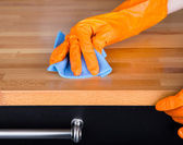 Cleaning table — Stock Photo