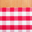 Red and white tablecloth — Stock Photo #19379083