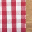 Red and white tablecloth — Stock Photo #19707627