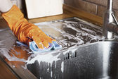Cleaning sink — Stockfoto