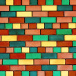 Colorful brick wall — Stock Photo