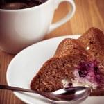 Coffee and pie — Stock Photo